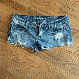 Super short denim shorts